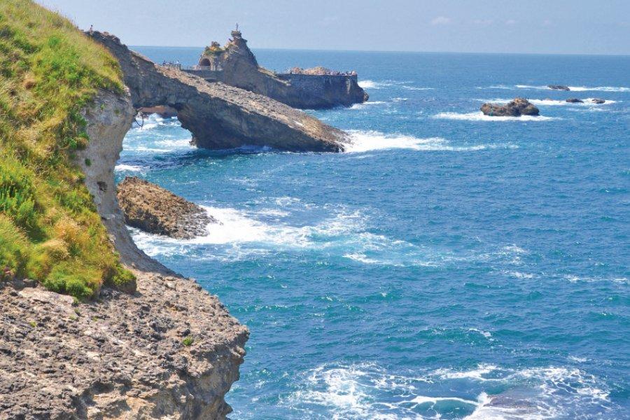 Le rocher de la Vierge à Biarritz (© Chanelle - Fotolia))