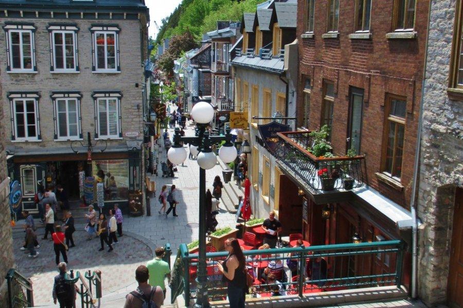 Quartier Petit Champlain à Québec. (© Valérie FORTIER))