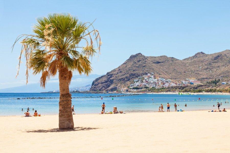 Plage Las Teresitas à Tenerife. (© fuchsphotography - Fotolia))