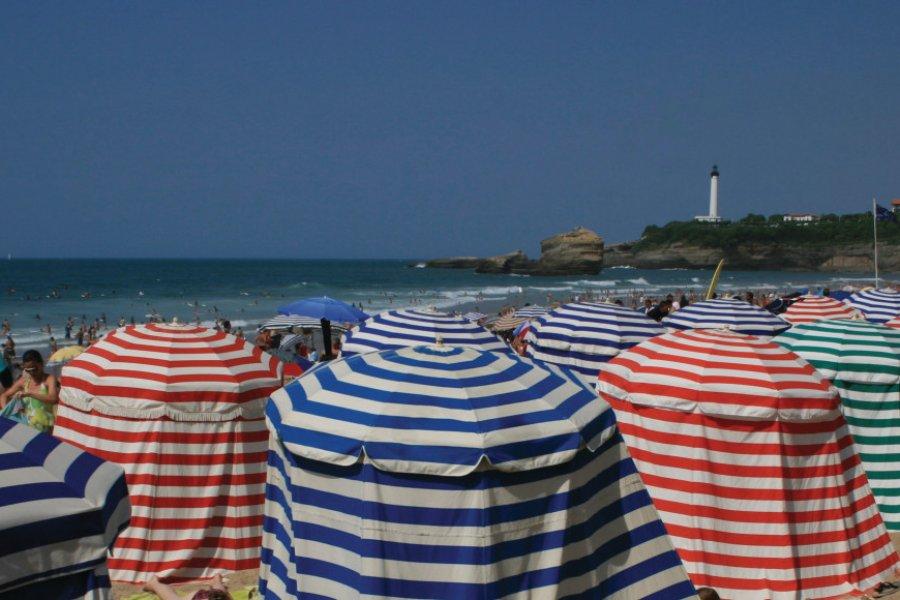 La plage de Biarritz (© DjiggiBodgi.com - Fotolia))
