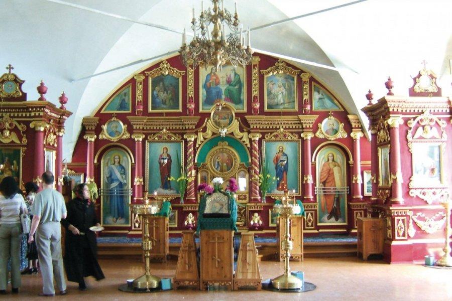 Eglise de Krasnoïarsk, iconostase (© Stéphan SZEREMETA))