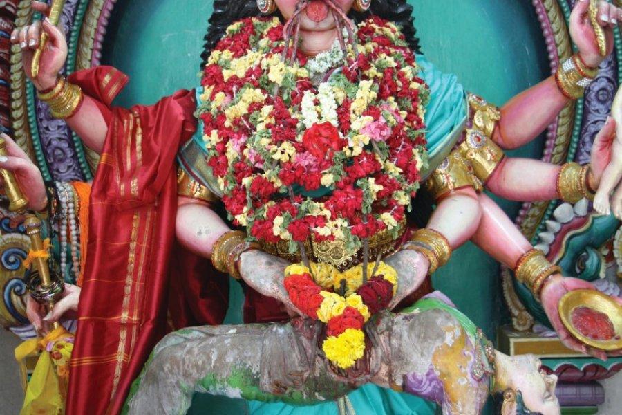 Temple Sri Veeramakaliamman dans le quartier de Little India (© Stéphan SZEREMETA))