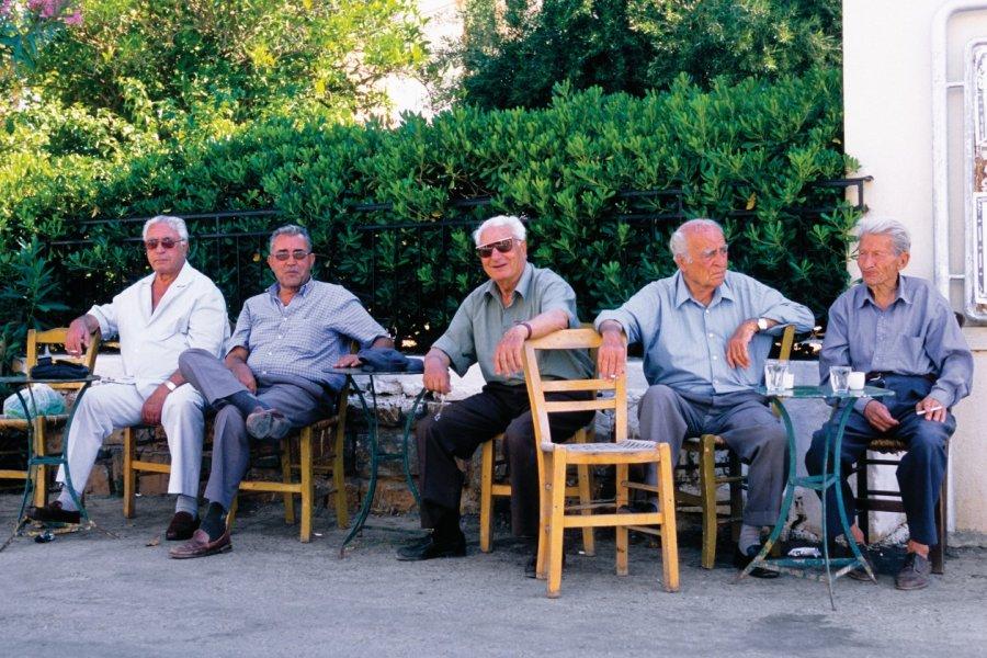 Kafeneion à Elounda. (© Author's Image))