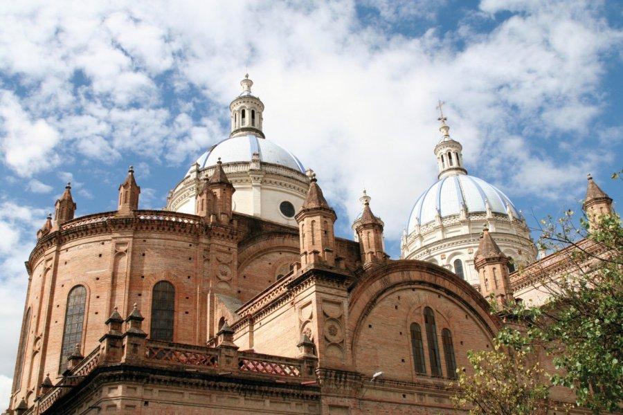 Les coupoles bleues de la nouvelle cathédrale de Cuenca. (© Stéphan SZEREMETA))