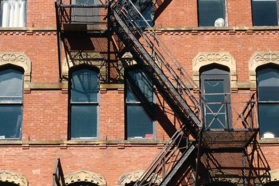 Façade d'un immeuble à Saint John. (© Tourisme Nouveau-Brunswick))