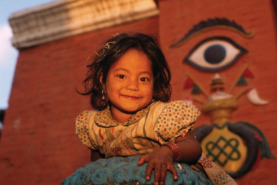 Petite fille à Durbar Square. (© Author's Image))