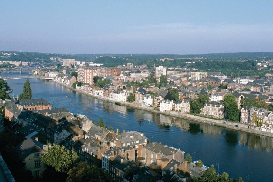 La Meuse traversant Namur. (© Author's Image))