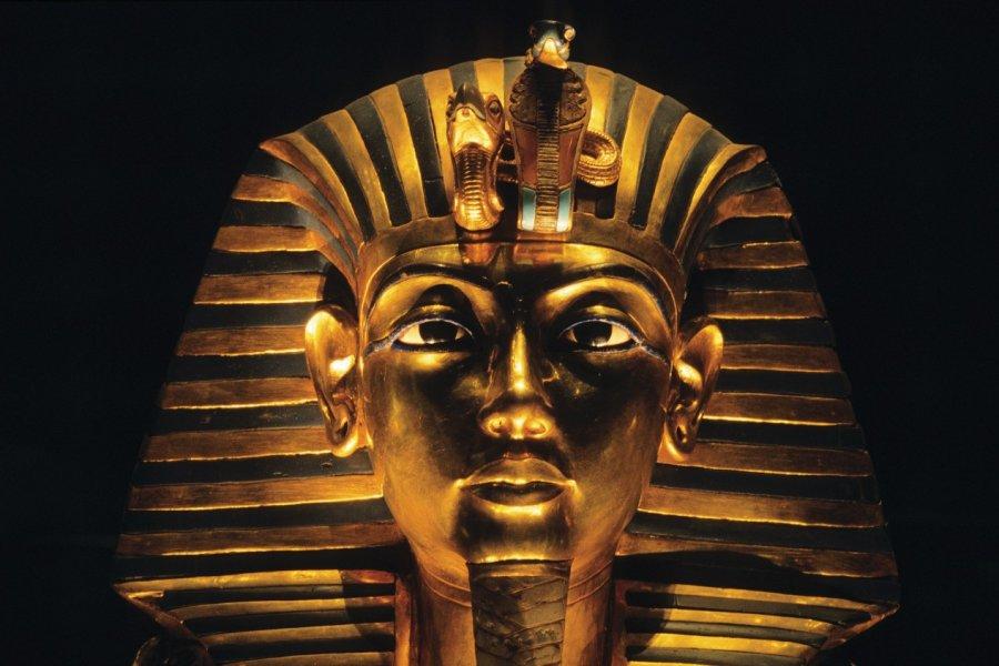 Trésor de Toutankhamon au Musée égyptien du Caire: le masque d'or. (© Author's Image))