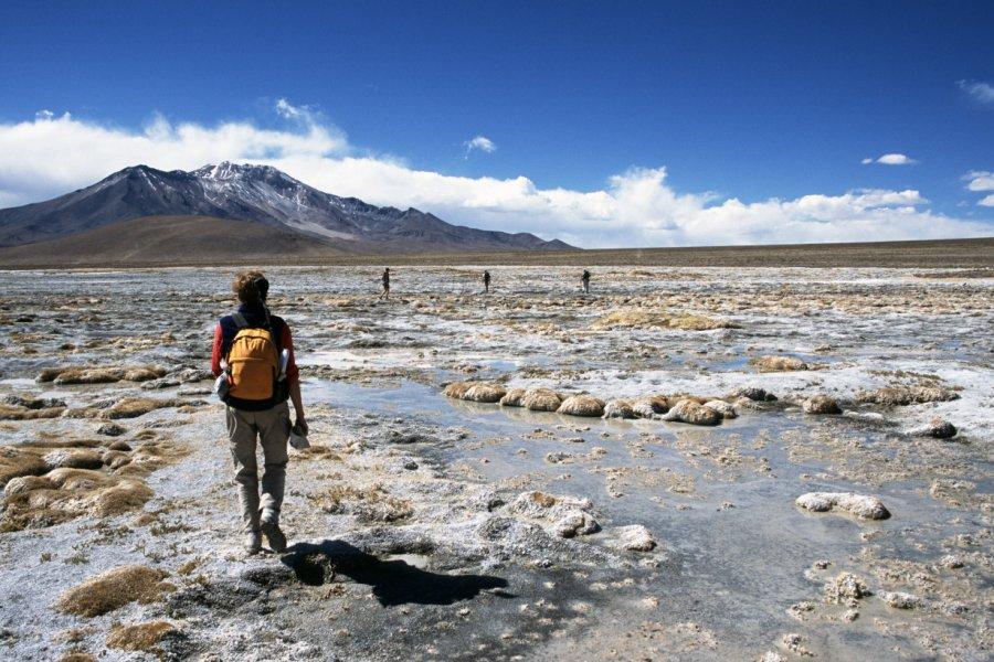 Randonnée dans le désert d'Atacama. (© robas))