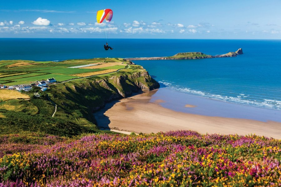 Rhossili Bay au Pays de Galles. (© Billy Stock/4Corners/Sime/Photononstop))