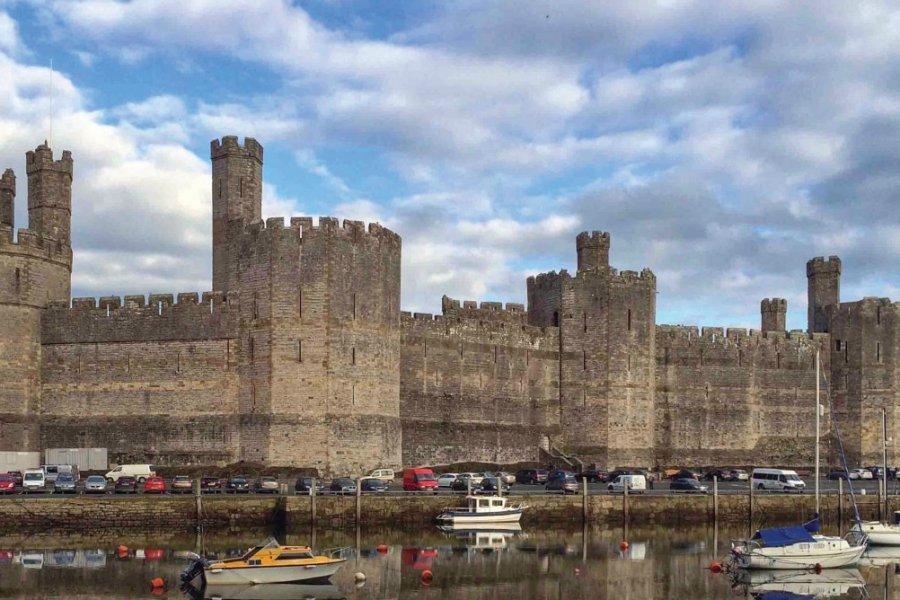 Caernarfon Castle, l'un des plus grands châteaux médiévaux au monde. (© Muriel PARENT))
