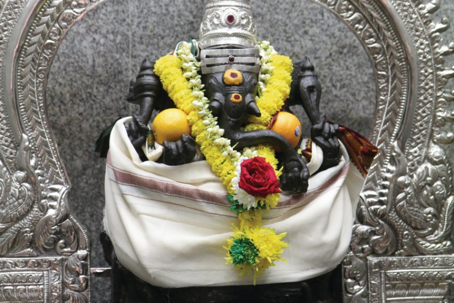 Ganesh dans le temple de Sri Mahamariamman (© Stéphan SZEREMETA))