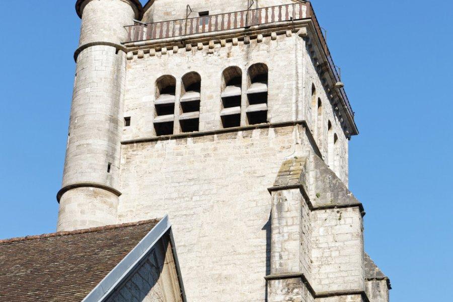 Le clocher de l'église de Poligny. (© Pierre-Jean DURIEU - Adobe Stock))