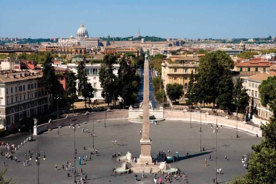 Piazza del Popolo vue depuis le Pincio. (© Philippe GUERSAN - Author's Image))
