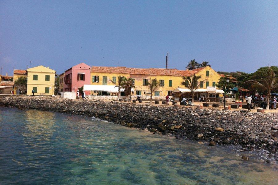 Ile de Gorée, à gauche du débarcadère. (© Stéphanie BORG))