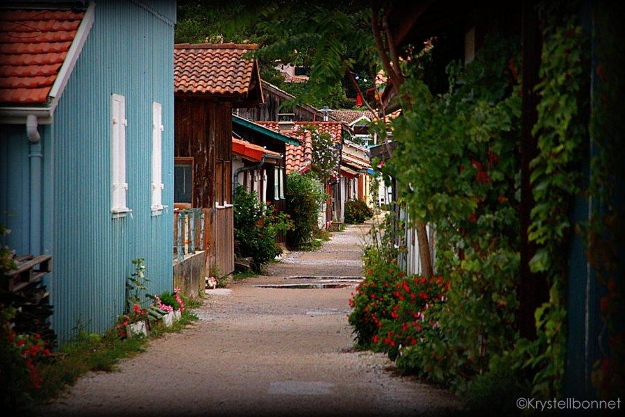 Rue Sainte Catherine village ostréicole le Canon. (© Krystell BONNET photographie))