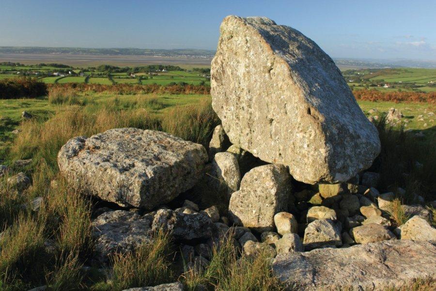 Arthur's Stone aurait été jetée par le roi Arthur sur la Péninsule de Gower (© hadler1 - iStockphoto.com))