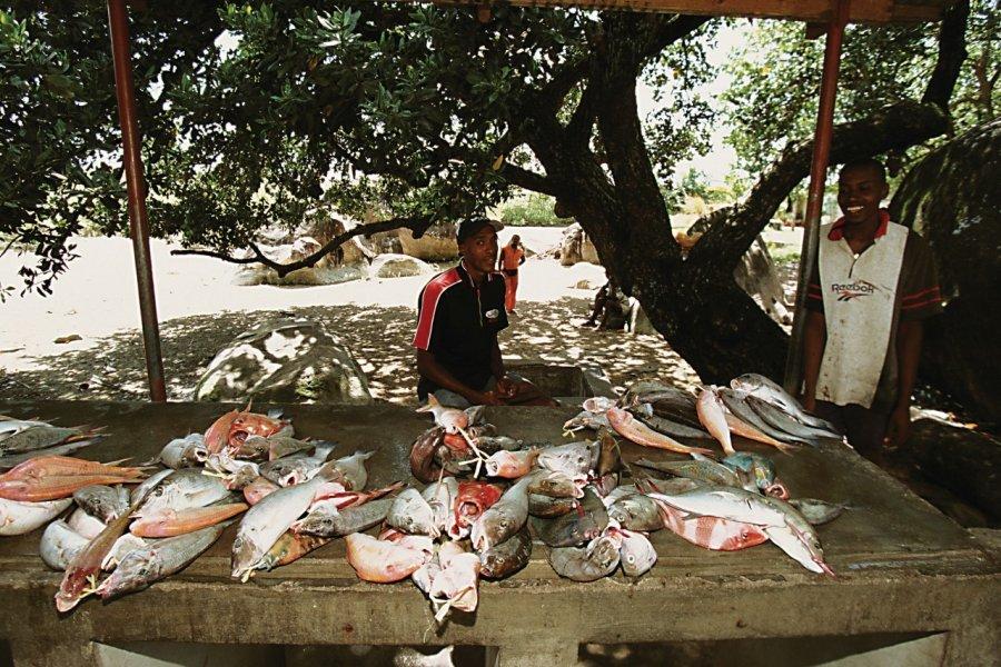 Marché aux poissons de l'île de Mahé. (© Author's Image))
