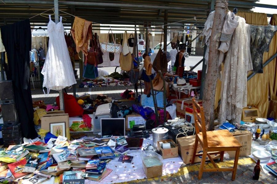 Stand du marché aux puces de Jaffa. (© Shaina Gluckman / Tel Aviv Global & Tourism))