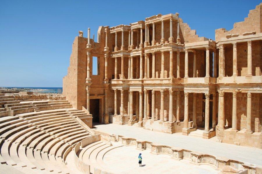 L'amphithéâtre de Sabratha. (© djgunner))