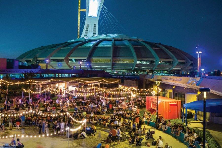 L'Esplanade Financière Sun Life est un parc urbain animé où se côtoient de nombreuses activités. (© PARC OLYMPIQUE))