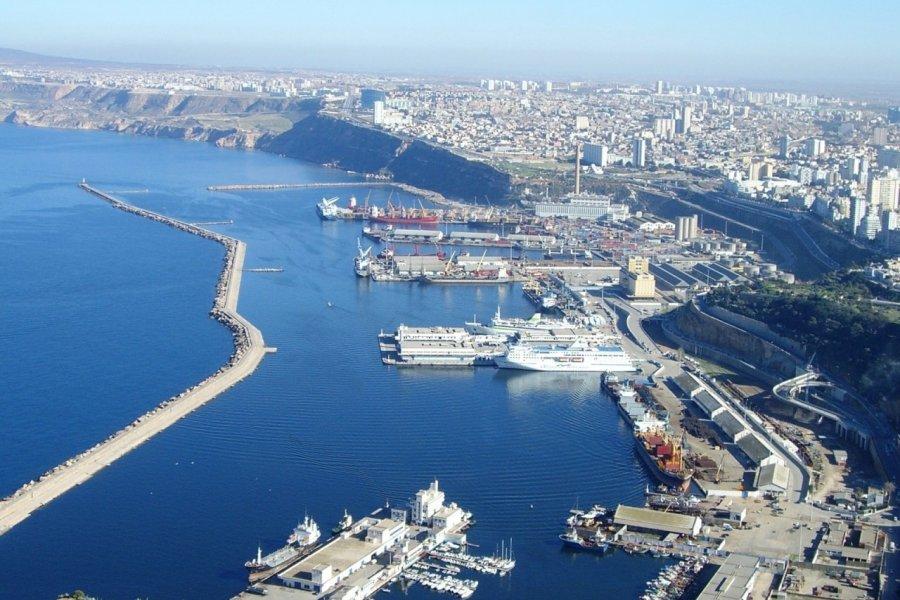Le port d'Oran vu de Santa Cruz. (© Foxytoul))