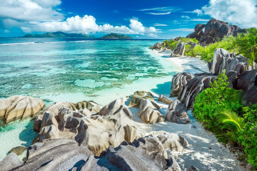 Anse Source d'Argent est l'une des plus belles plages des Seychelles. (© kbarzycki - stock.adobe.com))