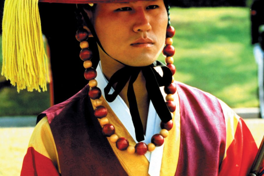 Portrait d'un garde royal au palais Deoksugung. (© Miguel POIRIER))