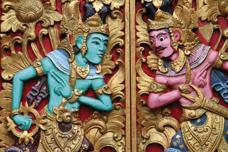 Porte dans le temple Pura Ulun Danu Bratan. (© Stéphan SZEREMETA))