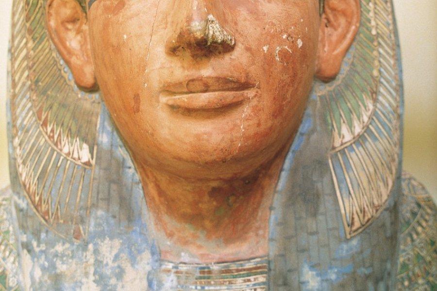 Musée égyptien, couvercle de sarcophage. (© Tom Pepeira - Iconotec))