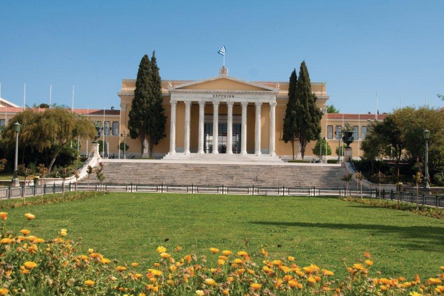 Le jardin national d'Athènes offre une belle vue sur le Zappéion. (© Alce - Fotolia))