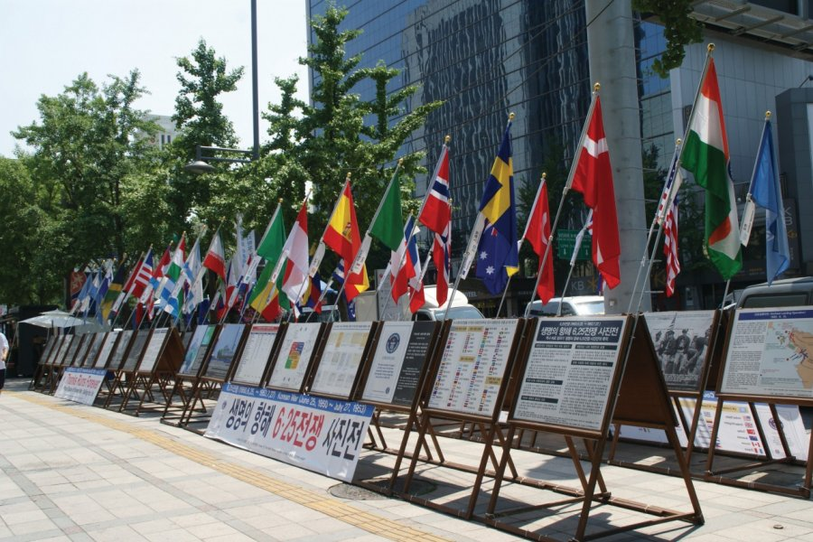 Hommage aux combattants de la guerre de Corée. (© Barthélémy COURMONT))