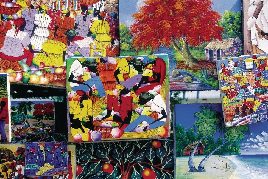 Peintures naïves au marché de Santo Domingo. (© Sir Pengallan - Iconotec))