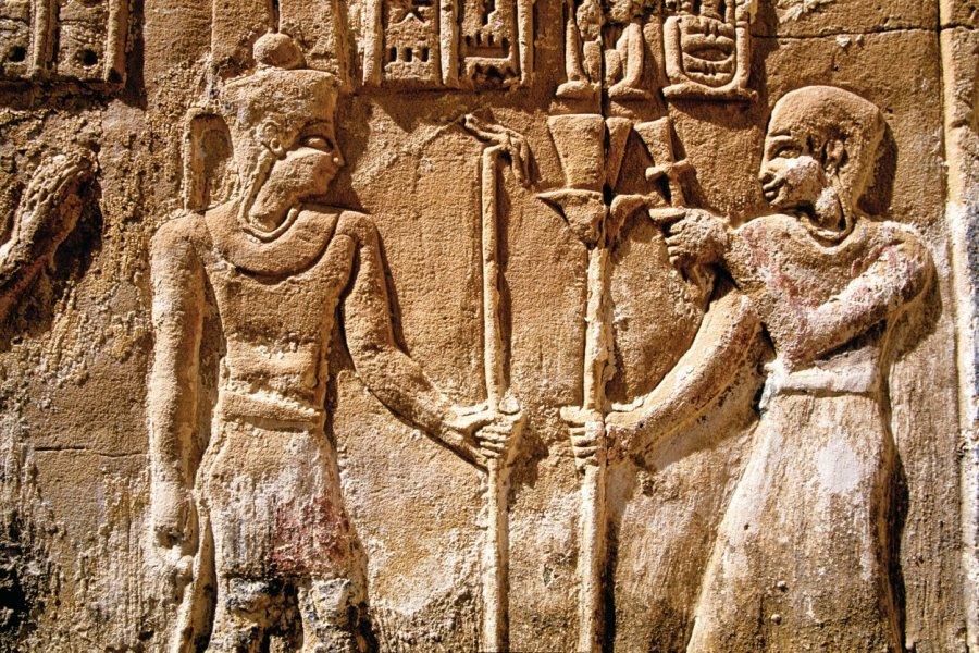 Relief du temple de Deir el-Haggar. (© Sylvain GRANDADAM))