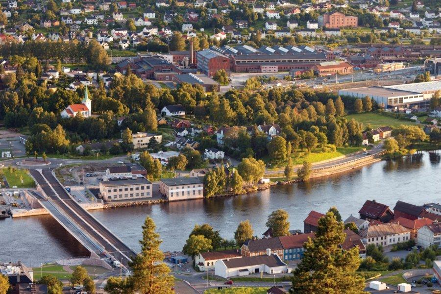 Vue aérienne de Drammen. (© Mrtekmekci - iStockphoto))