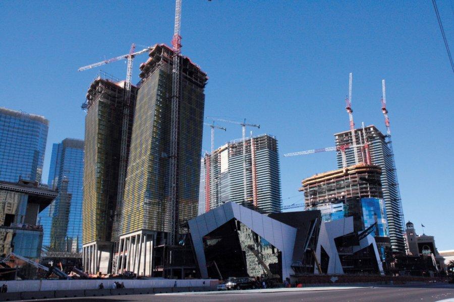Le City Center en construction début 2009. (© Stéphan SZEREMETA))