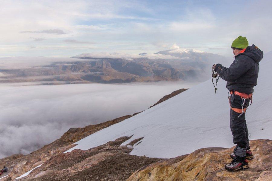 Nevado del Tolima, au bord du glacier à plus de 5 000 m d'altitude. (© Paramo Trek))