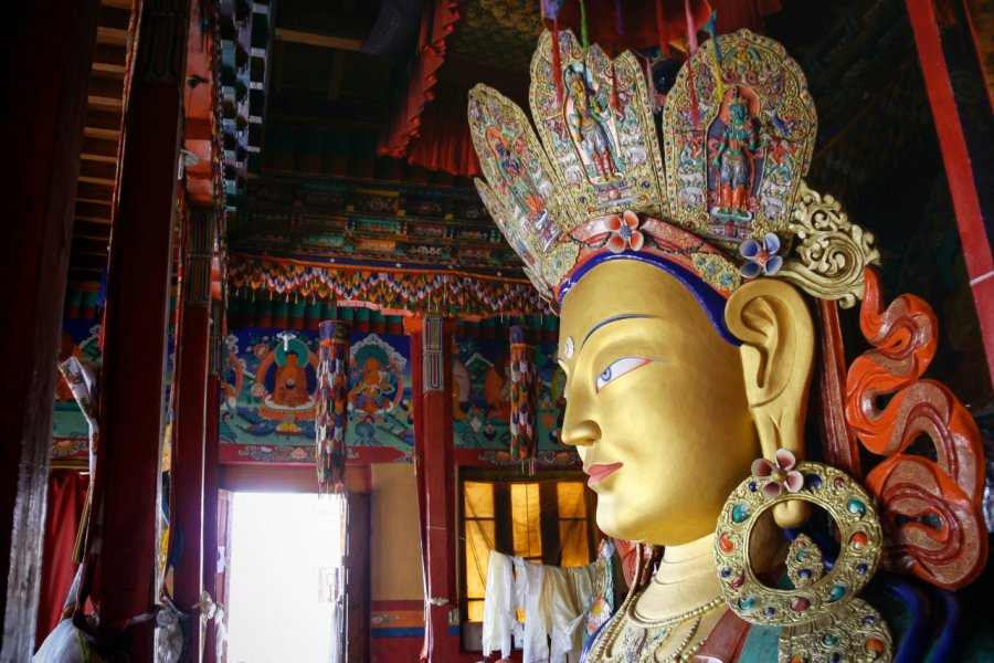 Intérieur du monastère de Thiksey. (© gumpapa))