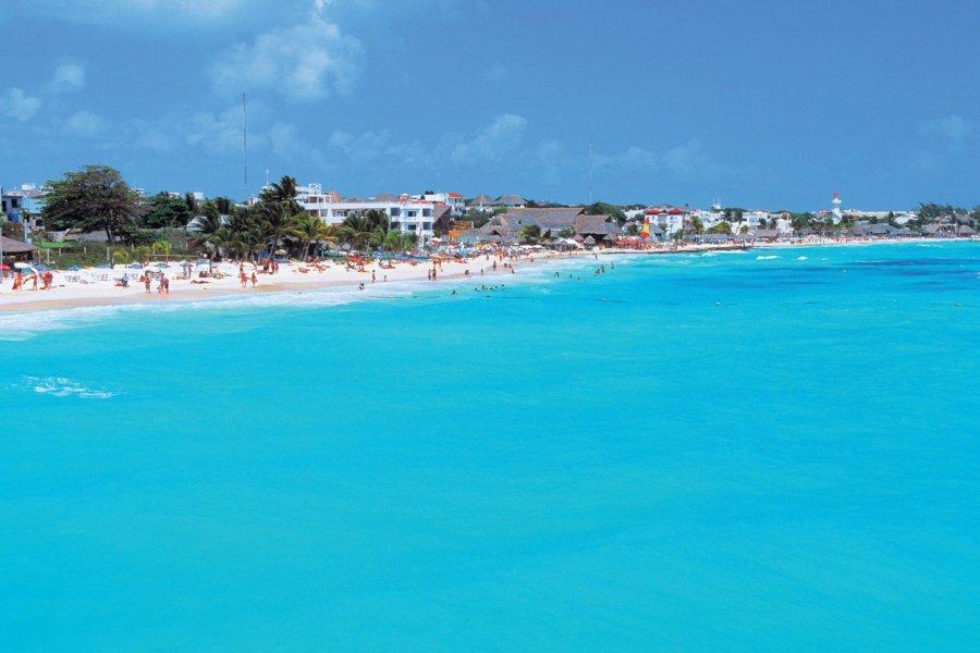 Playa del Carmen, station balnéaire de la mer des Caraïbes. (© Author's Image))