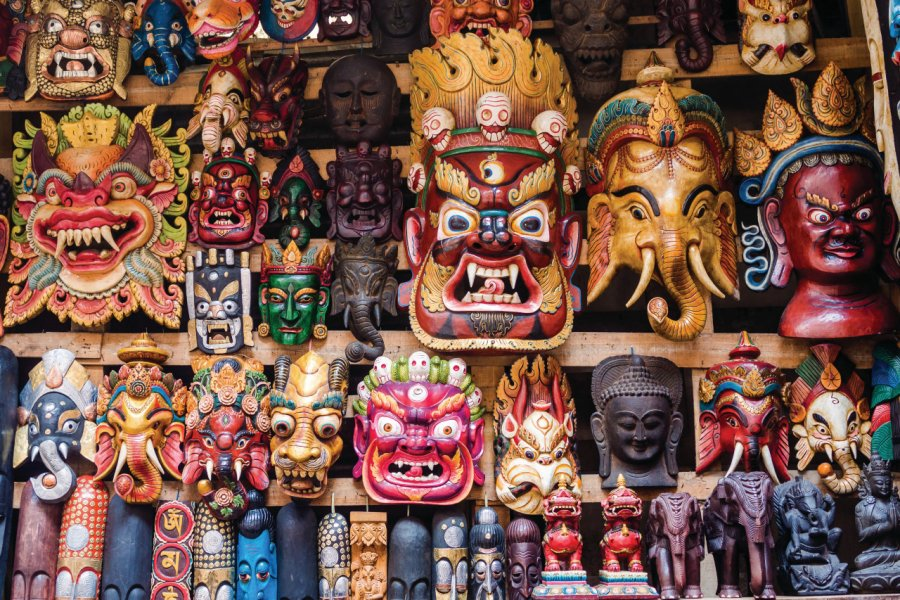 Masques traditionnels, Katmandou. (© rmnunes))