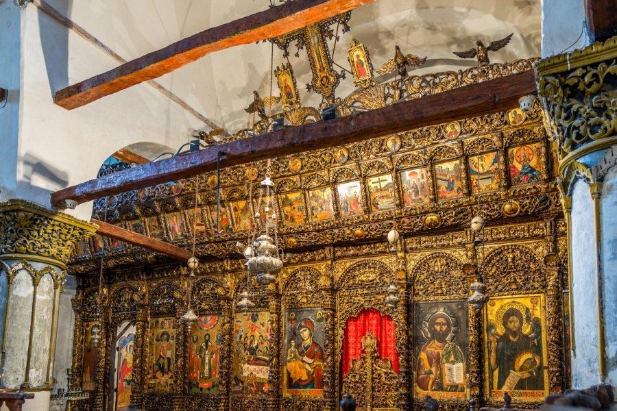 Intérieur de l'église Sainte-Marie de Blachernes, Berat. (© Milosk50 - Shutterstock.com))