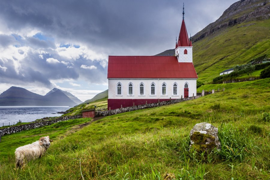 L'église de Húsar, île de Kalsoy. (© Federica Violin - Shutterstock.com))