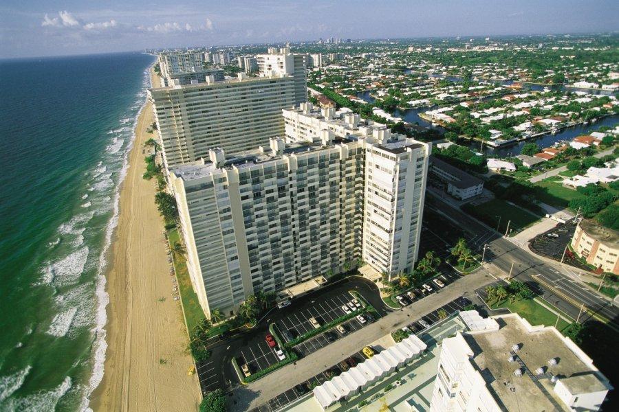 Vue aérienne de Fort Lauderdale. (© Tom Pepeira- Iconotec))