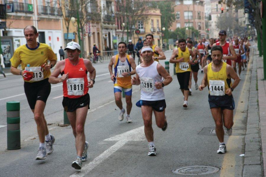 Marathon dans les rues de Séville. (© Stéphan SZEREMETA))