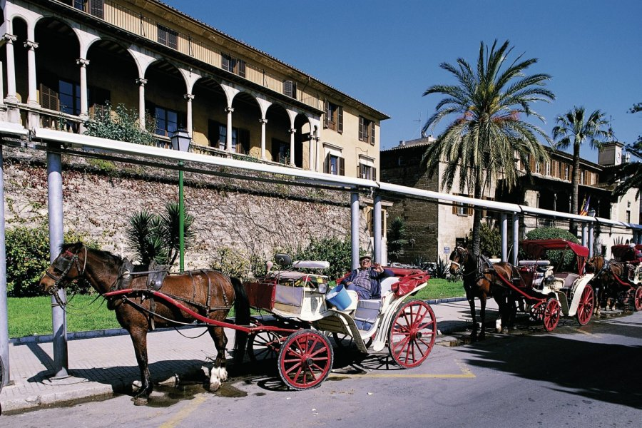 Cocher proposant une visite en calèche de Palma de Majorque. (© Hervé Bernard - Iconotec))