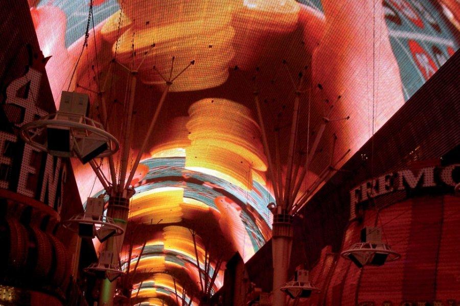 La voute lumineuse de Fremont Street Experience. (© Romain THOMASSIN))