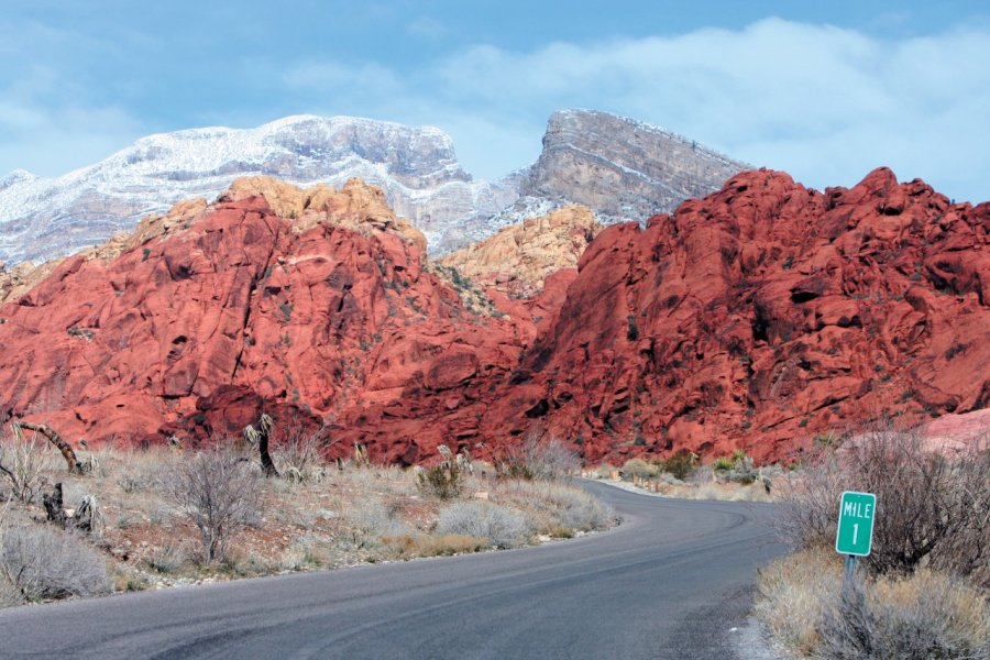 Red canyon - Différentes strates de grès forment un relief étonnant. (© Stéphan SZEREMETA))