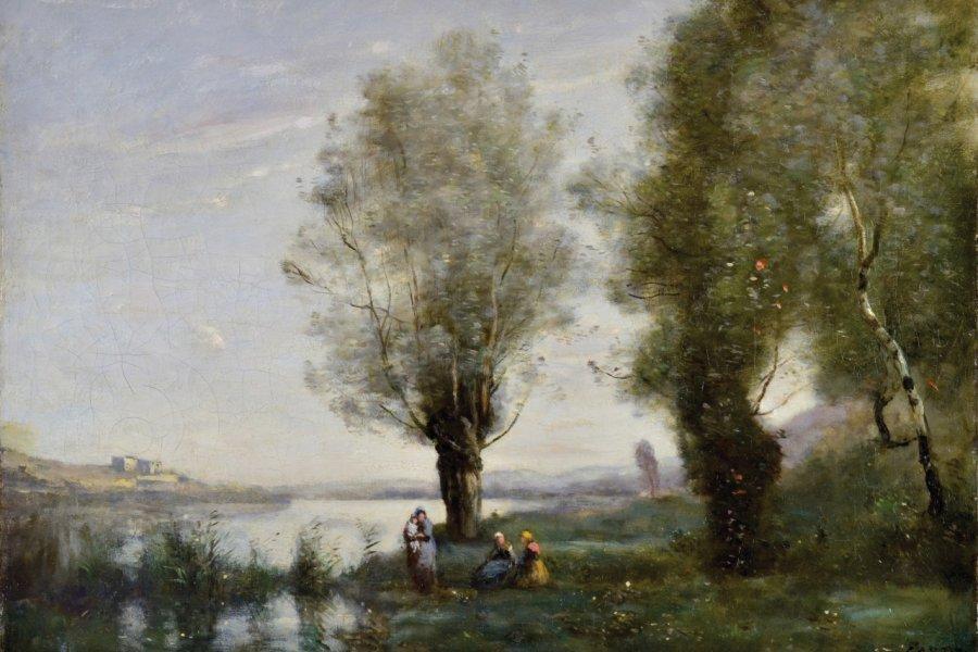 Le Repos sous les saules Camille Corot (Paris, 1796 - Ville d'Avray, 1875). (© B. Mahuet, Musées de Mâcon))