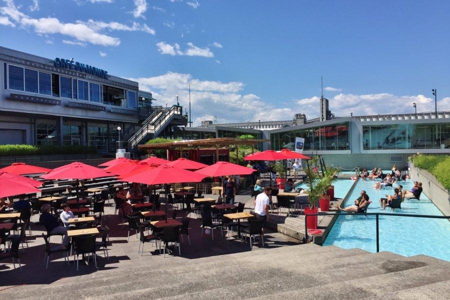 Le bar estival du Festibière de Québec. (© Valérie FORTIER))