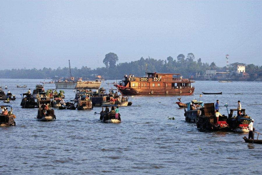 Delta du Mekong, marché flottant. (© Yukiko Yamanote - Iconotec))